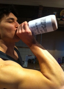 ingestion of High fructose corn syrup chocolate milk after a heavy workout.